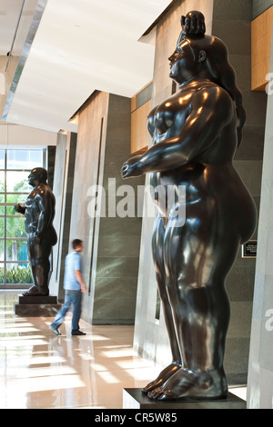 United States, Florida, Miami, Downtown, hotel Four Seasons, sculptures by colombian artist Fernando Botero in the - Stock Photo