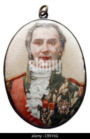 Wellington, Arthur Wellesley Duke of, 1.5.1769 - 14.9.1852, British General, politician, portrait, miniature painting - Stock Photo