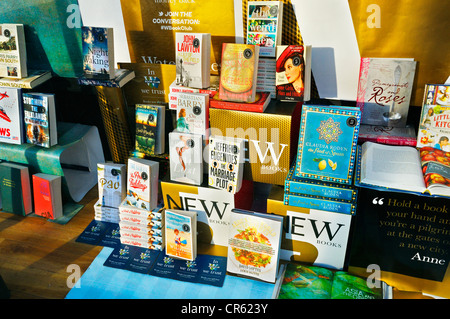 Waterstone's book display - Stock Photo