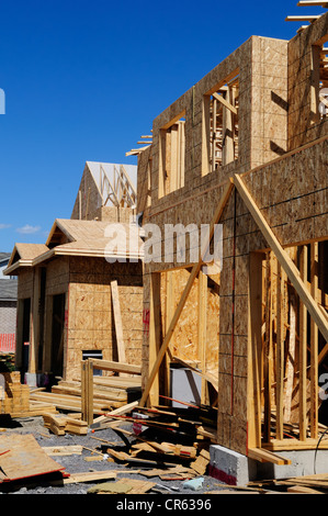 New Houses Being Built In North America - Stock Photo