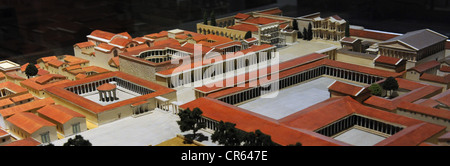 Model of the town centre of Miletus at 200 AD.. Copy by K. Stephanowitz (1968) after the original by H. Schleif. - Stock Photo