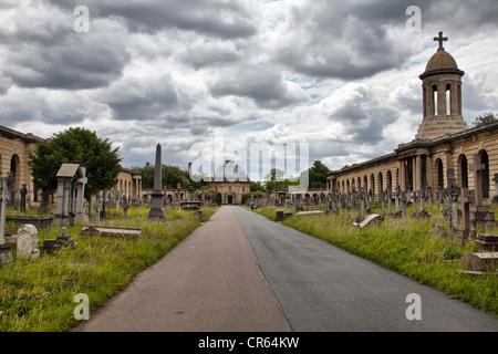 Brompton cemetery - London UK - Stock Photo