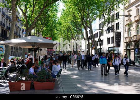 Spain, Catalonia, Barcelona, La Rambla - Stock Photo