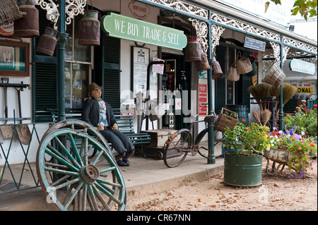 South Africa, Western Cape, on the wine route, Stellenbosch, old Sam boutique (Oom Samie Se Winkel) - Stock Photo