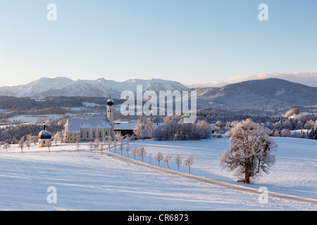 Germany, Bavaria, View of pilgrimage church - Stock Photo