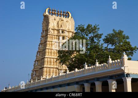 India, Karnataka State, Mysore, Chamundi Hill - Stock Photo