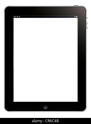 Apple ipad 3G cutout illustration digital tablet isolated on white background. - Stock Photo