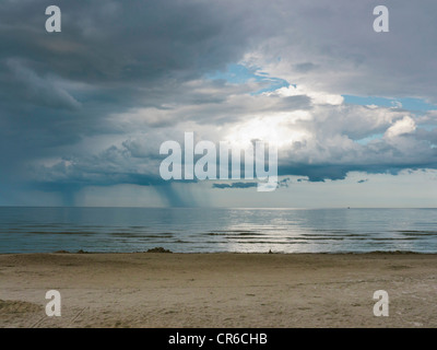 Germany, View of cloudy sky over Baltic Sea at Rugen Island - Stock Photo