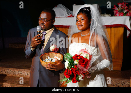 Wedding Gift Ideas Germany : Bridal couple with gifts of money, wedding, Bamenda, Cameroon, Africa ...