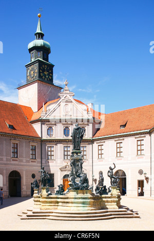 Fountain Court, Residenz, Munich, Bavaria, Germany, Europe - Stock Photo