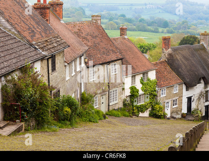 Gold Hill, Shaftsbury, Dorset. - Stock Photo