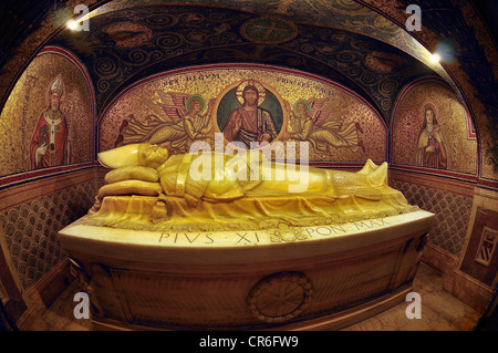 Tomb of Pope Pius XI, Vatican City, Rome, Latium region, Italy, Europe - Stock Photo