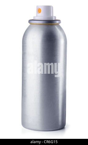Aluminum spray can isolated on white background - Stock Photo