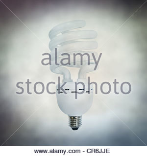 Fluorescent bulb - Stock Photo