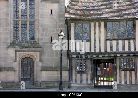 Guild chapel on Church Street next to Shakespeare's School Room, Stratford upon Avon, UK - Stock Photo