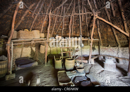 Interior Of Roundhouse At Castell Henllys Iron Age