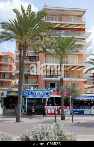 Oberbayern, popular restaurant and disco on Bravo, Playa de Palma, El Arenal, Majorca, Balearic Islands, Spain, - Stock Photo