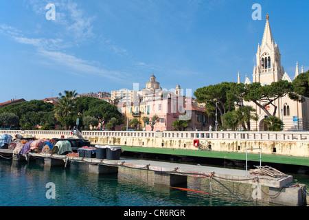 Port of Porto Maurizio, Imperia, port city on the Ligurian coast, Riviera di Ponente, Liguria, Italy, Mediterranean, Europe