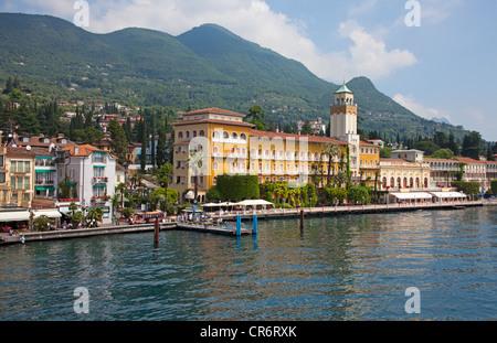 Grand Hotel Gardone, Gardone Riviera, Lake Garda, Brescia, Lombardy, Italy, Europe - Stock Photo