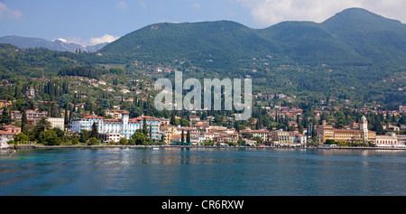 Townscape, Gardone Riviera, Lake Garda, Brescia, Lombardy, Italy, Europe - Stock Photo