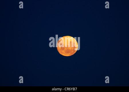 Full moon seen from Dunedin, South Island, New Zealand - Stock Photo