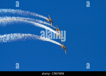 The Red Checkers Aerobatic Display Team with CT-4B Airtrainers - Stock Photo