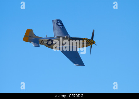 P-51 Mustang - American Fighter Plane - Stock Photo