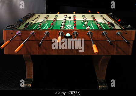 Table football, fussball or foosball table from the 50s, Museum for Industrial Culture, Aeussere Sulzbacher Strasse - Stock Photo