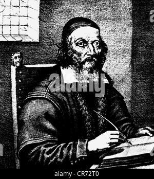 Comenius, John Amos, 28.3.1592 - 15.11.1670, Czech philosopher and educator, copper engraving, 17th century, , Artist's - Stock Photo