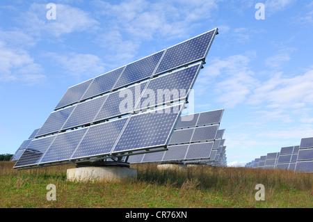 Solar photovoltaic panels. Solar park Stock Photo, Royalty ...