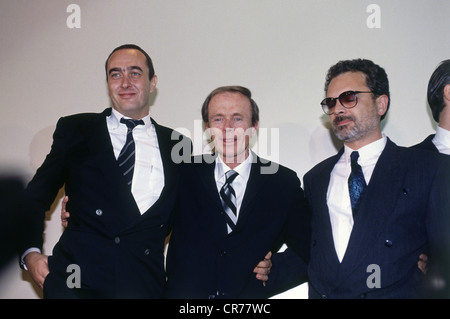 Eichinger, Bernd, 11.4.1949 - 24.1.2011, German film producer, group picture, with the US American author Hubert - Stock Photo