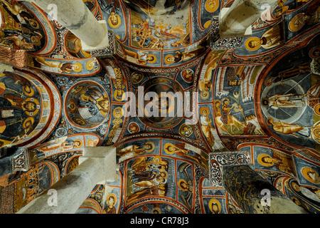 Turkey, Central Anatolia, Nevsehir Province, Cappadocia UNESCO World Heritage, Goreme, open air museum, Karanlik - Stock Photo