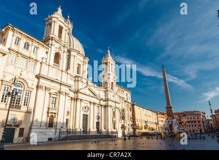 Piazza Navona, Rome Italy - Stock Photo