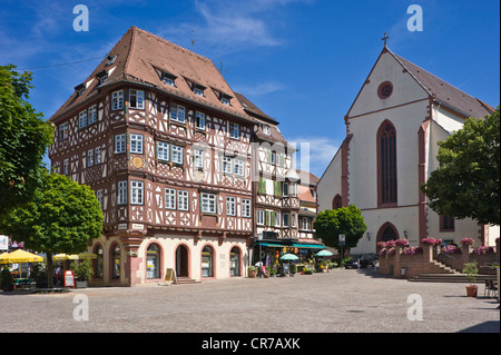 half timbered palm house baden wurttemberg mosbach germany stock photo royalty free image. Black Bedroom Furniture Sets. Home Design Ideas