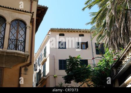 Gebäude in der Calle Estanc, Palma, Mallorca, Spanien, Europa. | Buildings in the Calle Estanc, Palma, Majorca, - Stock Photo