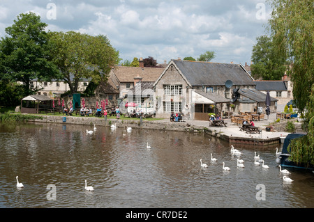 The Riverside at Lechlade on Thames Gloucestershire England UK - Stock Photo
