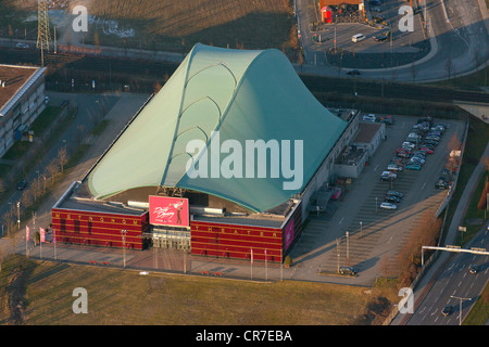 Aerial view, Metronom Theater, venue of the musical 'Dirty Dancing', Neue Mitte Oberhausen, new town centre, Oberhausen - Stock Photo