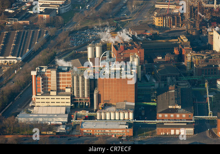 Aerial view, Hohenbudberg Bayer Plant, Bayer AG, Bayer plant in Krefeld-Uerdingen, Krefeld, Ruhr Area, North Rhine - Stock Photo