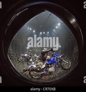 Globe of Speed, FlicFlac Christmas Circus, premiere of Schrille Nacht, eilige Nacht, Westfalia Hall, Dortmund - Stock Photo