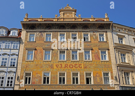 Prague czech republic rott house 1890 originally for Old town square hotel prague