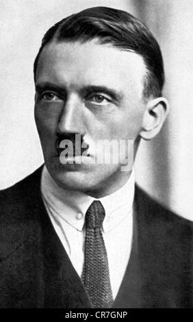 Hitler, Adolf, 20.4.1889 - 30.4.1945, German politician (NSDAP), portrait, 1923, Additional-Rights-Clearances-NA - Stock Photo