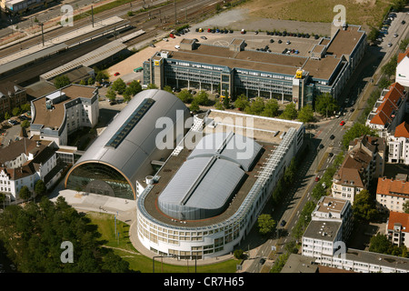 Aerial view, central station, station district, new station ...