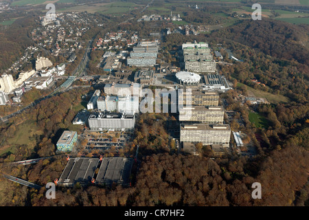 Aerial view, Audimax, University of Bochum, Ruhr Area, North Rhine-Westphalia, Germany, Europe - Stock Photo