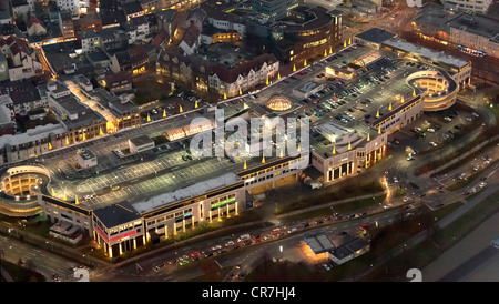 Aerial view, ECE, Alleecenter Hamm shopping centre, Christmas decoration, Hamm, Ruhr area, North Rhine-Westphalia - Stock Photo