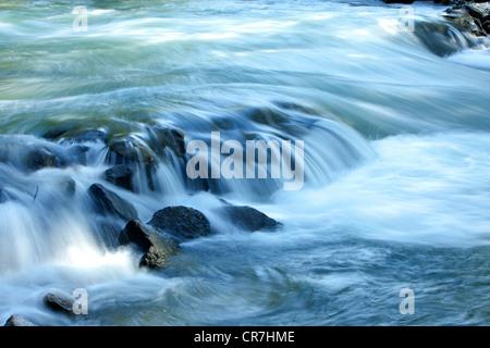 France, Loire, Saint Pierre de Boeuf, artificial whitewater - Stock Photo