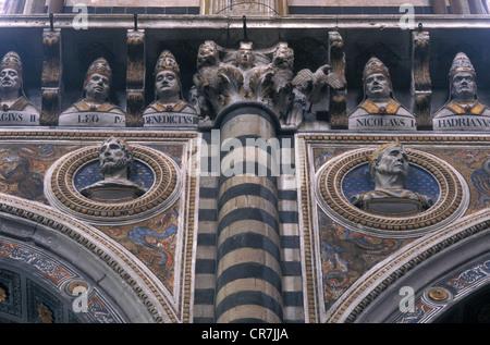 Italy, Tuscany, Siena, UNESCO World Heritage, the Duomo, interior - Stock Photo