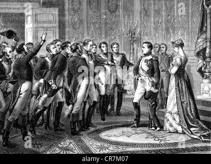 Napoleon I, 15.8.1769 - 5.5.1821, Emperor of the French 2.12.1804 - 22.6.1815, abdicating in favour of his son, - Stock Photo
