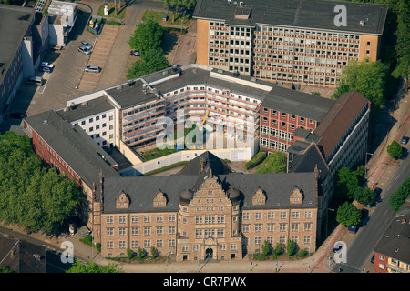 Aerial view, prison, forensics, Oberhausen, Ruhr area, North Rhine-Westphalia, Germany, Europe - Stock Photo