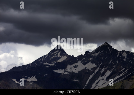 Storm clouds in mountains. Caucasus Mountains. Georgia, Svaneti. - Stock Photo