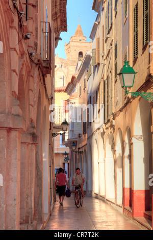 Spain, Balearic Islands, Menorca, Ciutadella, Old Town - Stock Photo